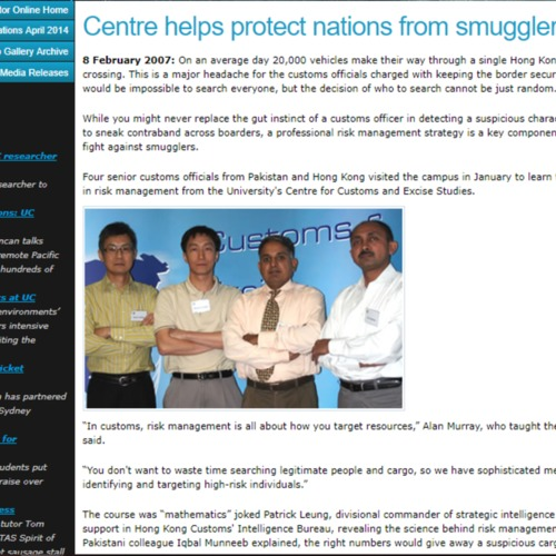 Centre Helps Protect Nations from Smugglers