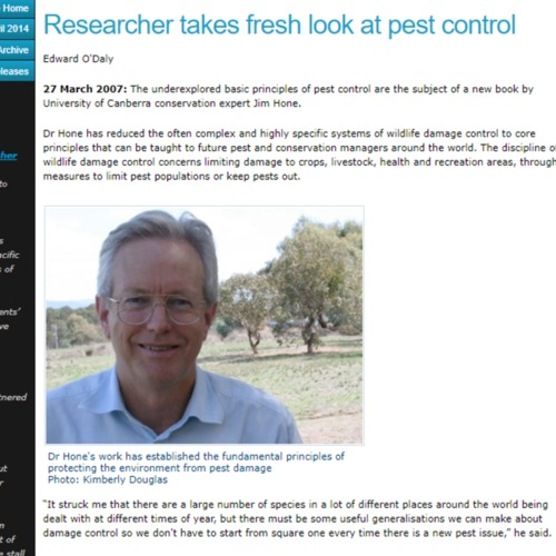 Researcher Takes Fresh Look at Pest Control